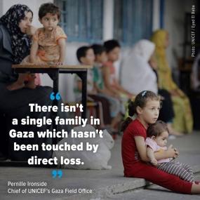 ගාසා සටන්වලින් ළමුන් 469ක් මරුට - UNICEF