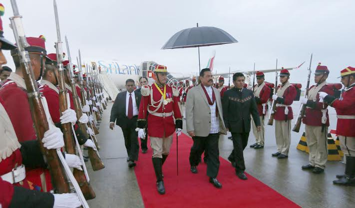 President Rajapaksa Arrives in Bolivia 2