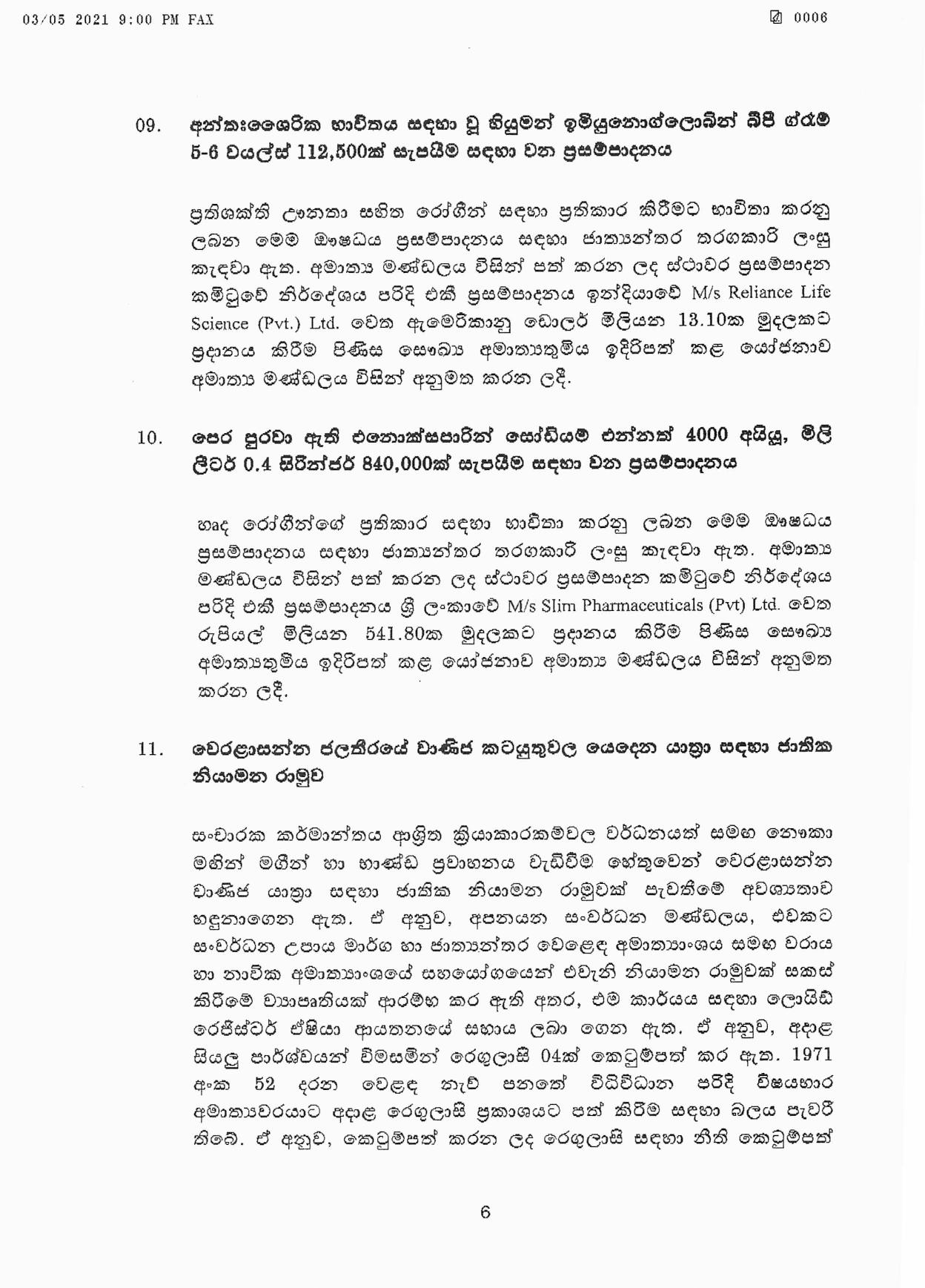 Cabinet Decision on 03.05.2021 page 006