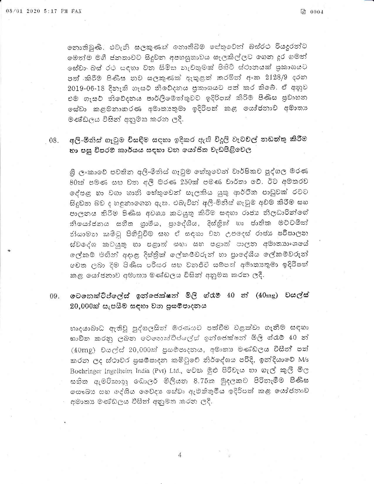 Cabinet Decision on 08.01.2020 page 004